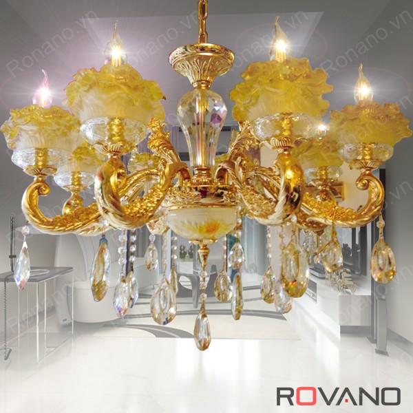Đèn chùm phalê mạ vàng RCP-3963-8